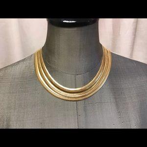 Vintage Gucci triple gold necklace